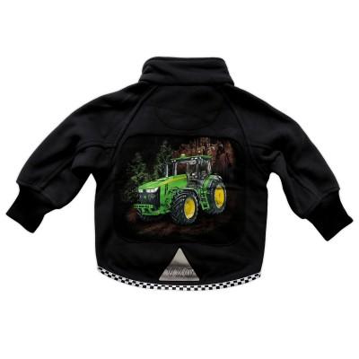 Fleecejacka Grön Traktor Bak