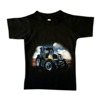 T-shirt Blå Traktor Fram