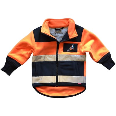 Fleecejacka med Loxy-reflex Orange Fram