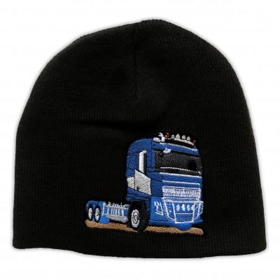 Mössa Blå Lastbil Fram