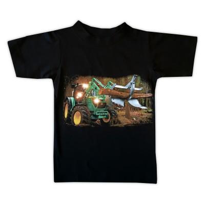 T-shirt Grön Skogsmaskin Fram