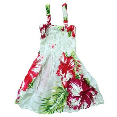 Klänning Vit med rosa blommor