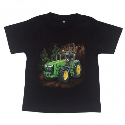 T-shirt Grön Traktor i skog