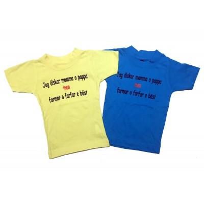 T-shirt Farmor och Farfar bäst!