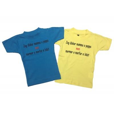T-shirt Mormor och Morfar bäst!