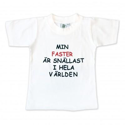 T-shirt Min faster är snällast i hela världen!