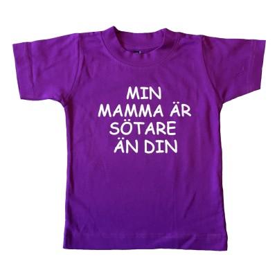 T-shirt Min mamma är sötare än din