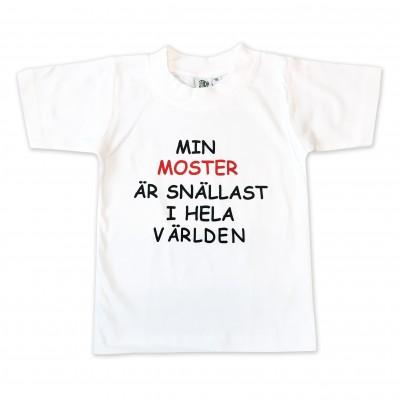 T-shirt Min moster är snällast i hela världen!