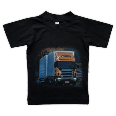 T-shirt Orange Lastbil Fram