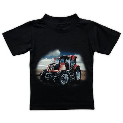 T-shirt Röd Traktor Fram