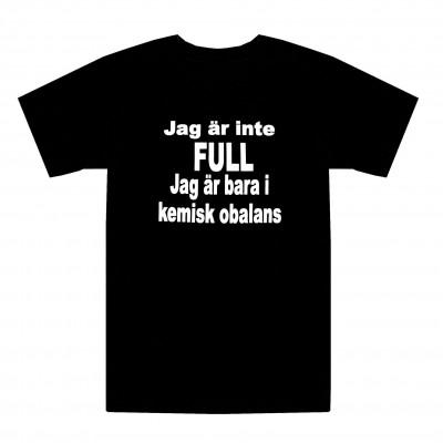 T-shirt Jag är inte full