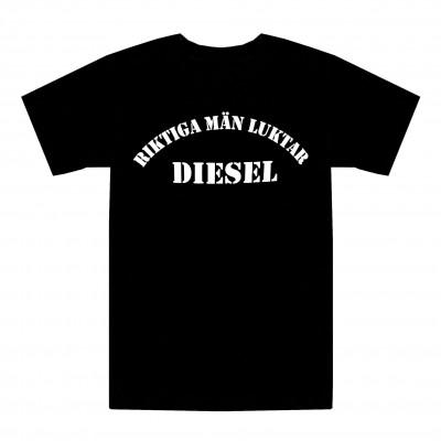 T-shirt Riktiga män luktar diesel