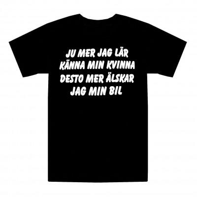 T-shirt Älskar min bil