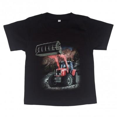 T-shirt Röd Traktor i natur