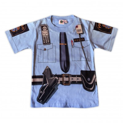 T-shirt Poliströja Blå Fram