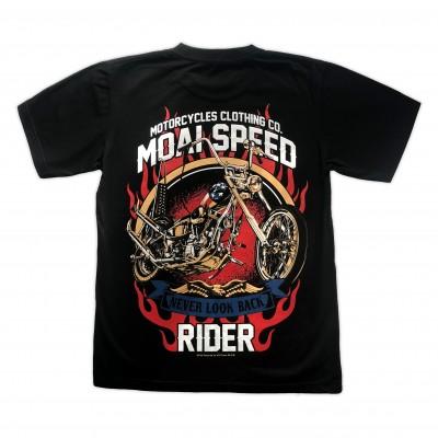 T-shirt Moai Speed - Never Look Back Retro Bak