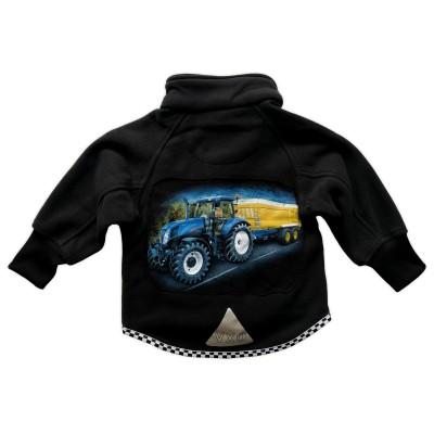 Fleecejacka Blå Traktor Bak