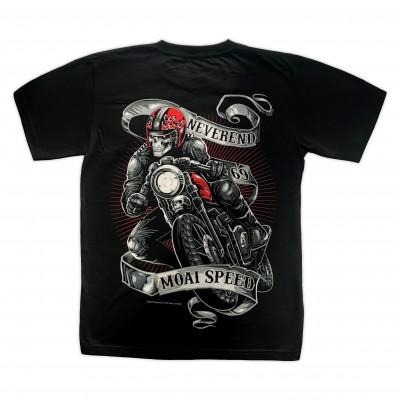 T-shirt Moai Speed - Neverend Bike Retro Bak