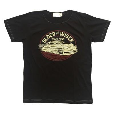 T-shirt Older and Wiser Retro Fram