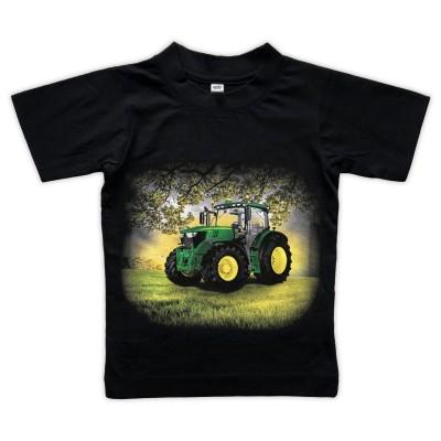 T-shirt Grön Traktor på åker