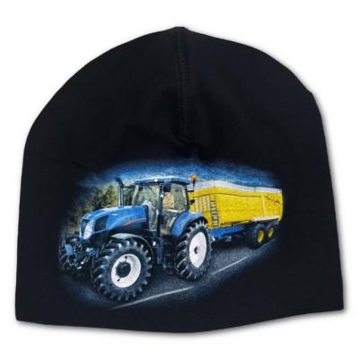 Trikåmössa Blå Traktor