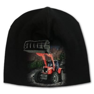 Trikåmössa Röd Traktor
