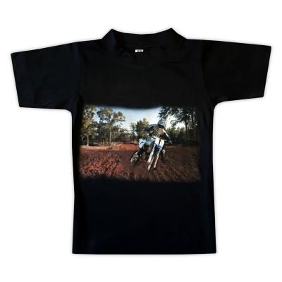 T-shirt Blå Cross Fram